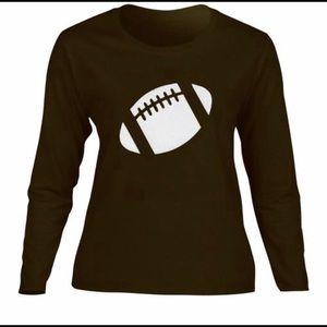 Football Shirt Mom Brown Long Sleeve